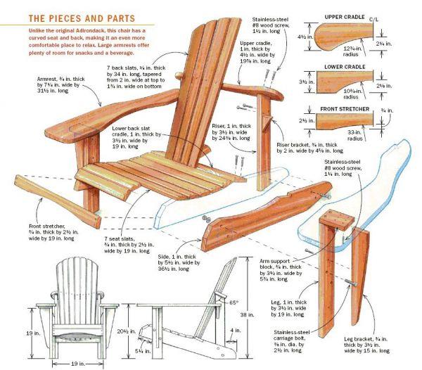 Bauen Sie auch Ihren eigenen Adirondack-Stuhl! | 21DEG